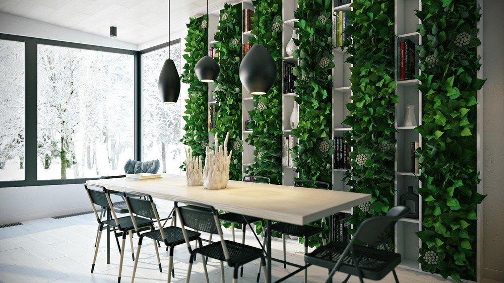 Несколько идей для использования искусственных цветов и растений в интерьере квартиры и дома